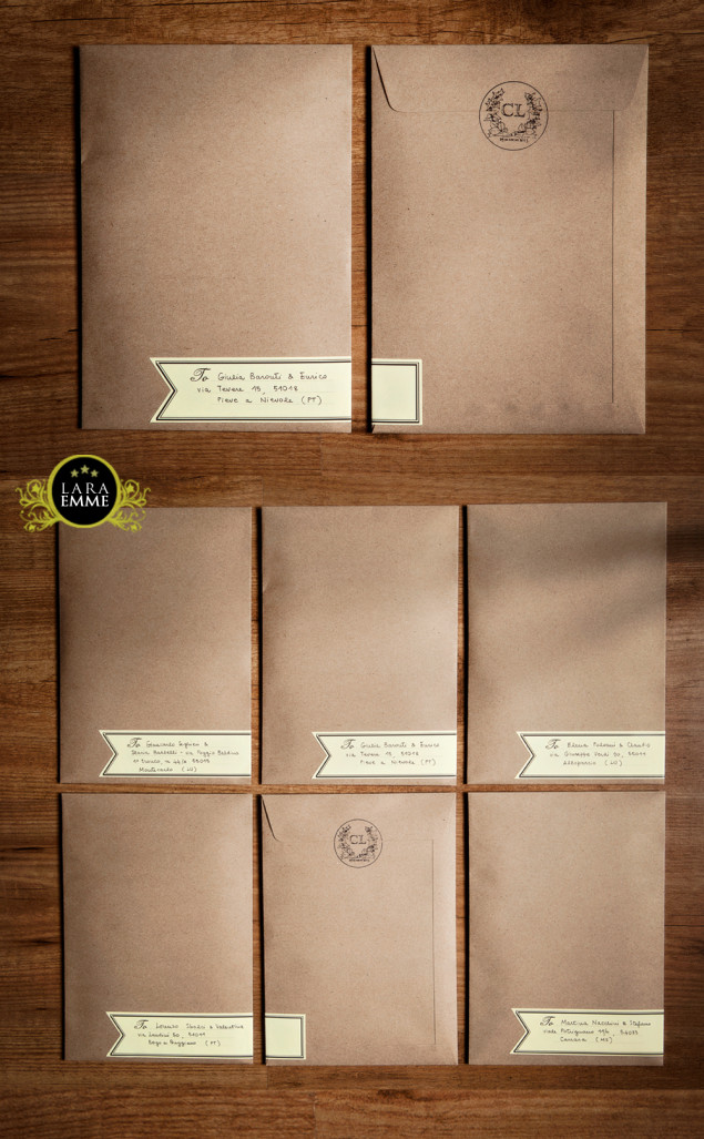 Invite kraft envelope