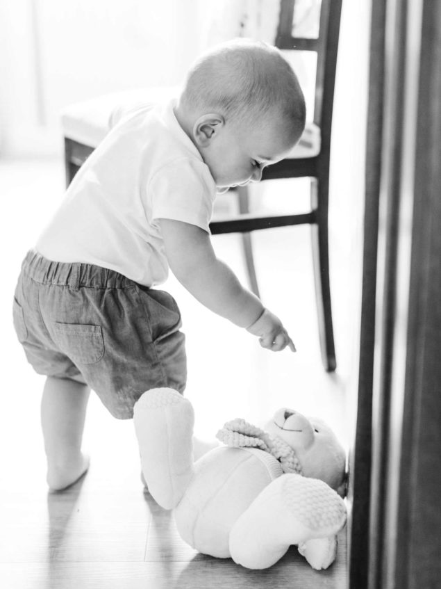 servizio fotografico in bianco e nero bambino