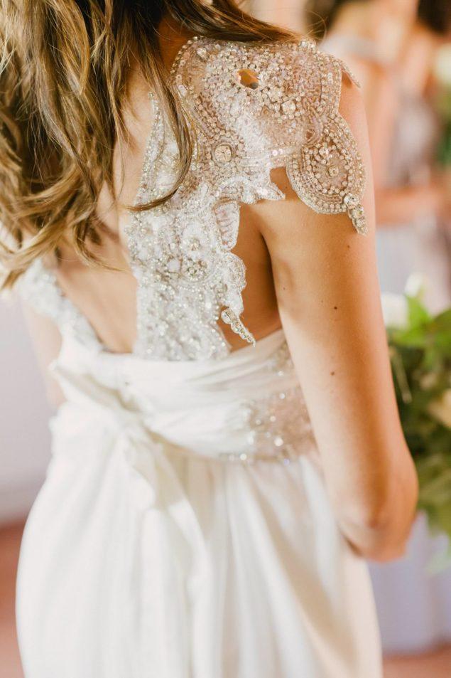 dettagli lusso abito sposa