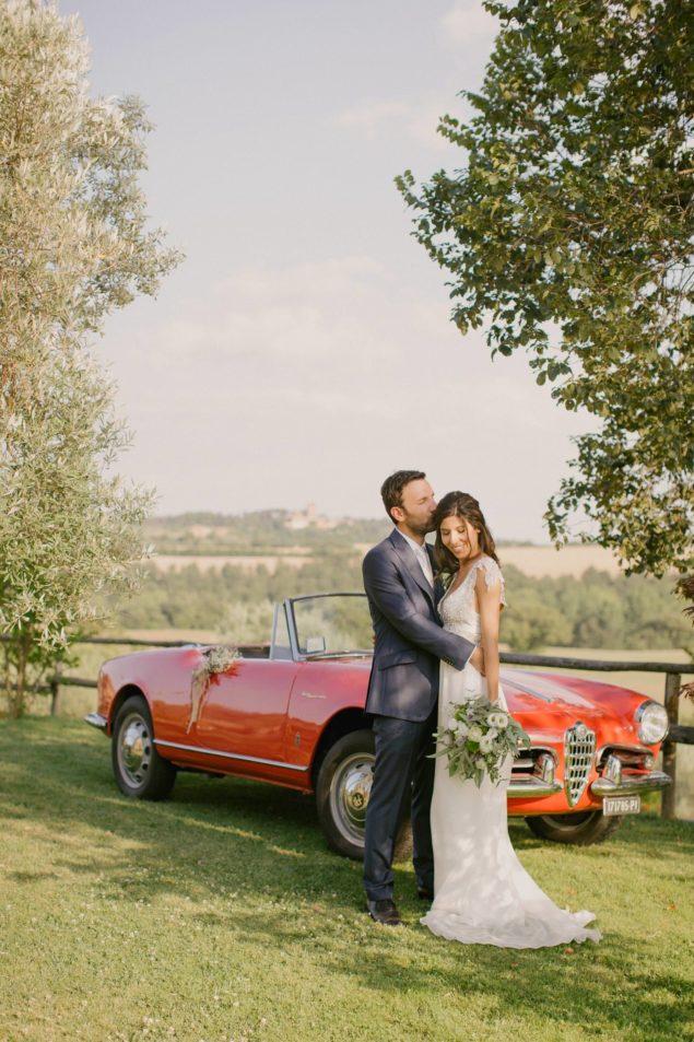 sposi auto d'epoca