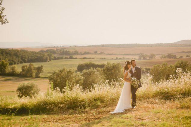 foto romantiche sposi pienza
