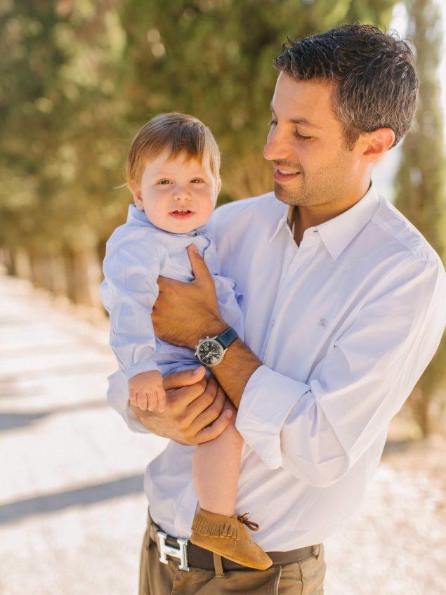foto bambino e papà