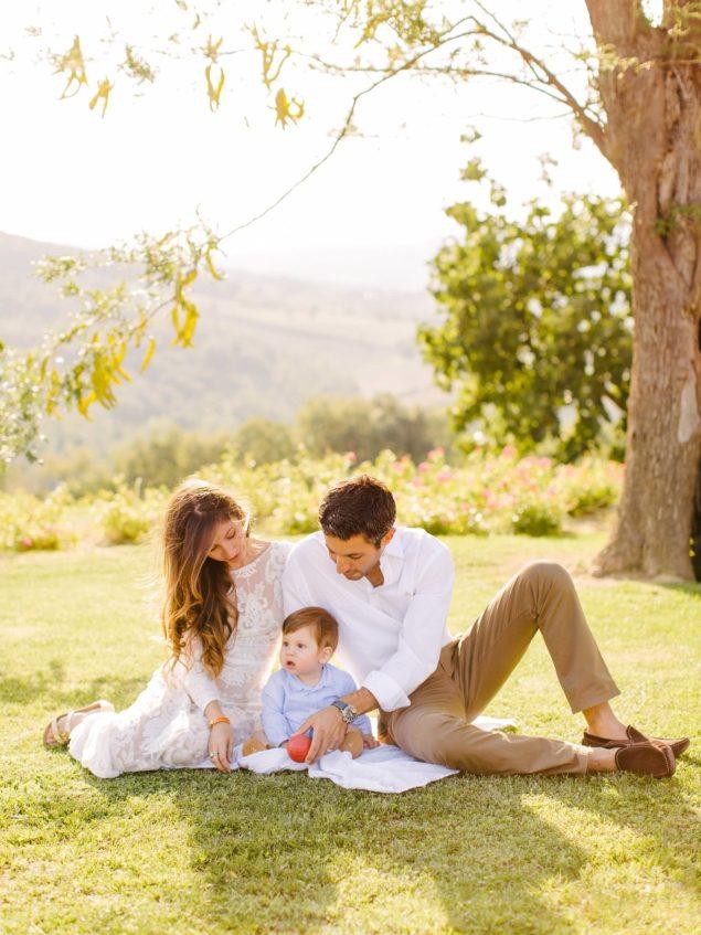 ritratto di famiglia in Toscana