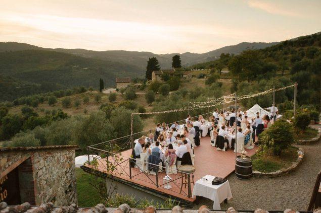 ricevimento cena matrimonio castello del trebbio