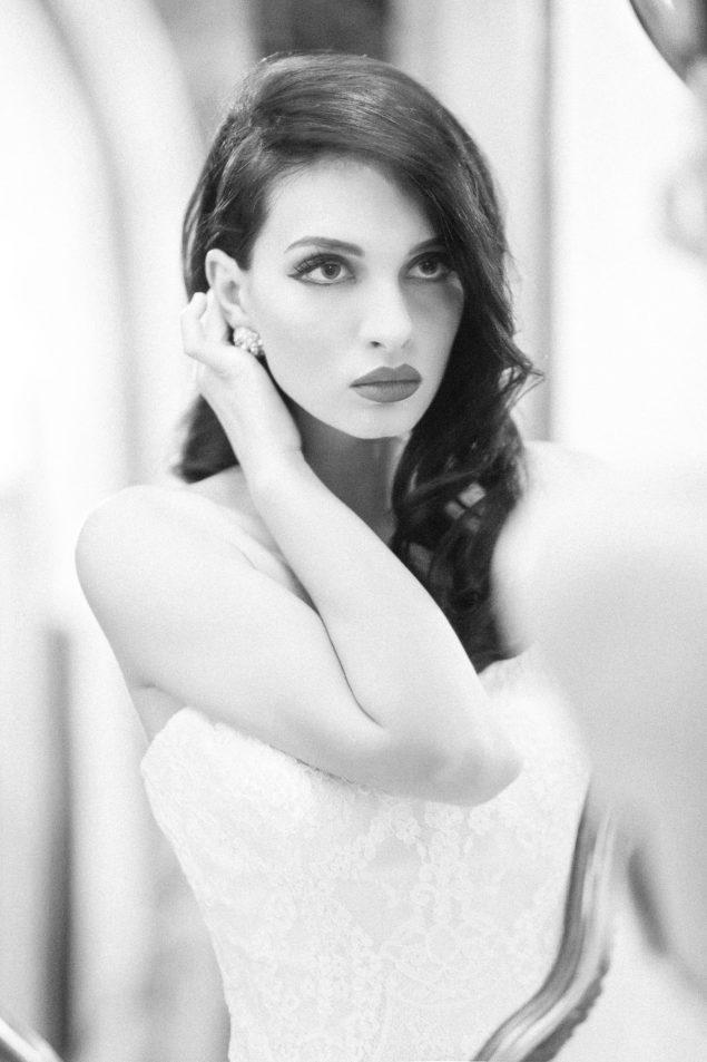 abito da sposa romantico rosa Atelier Aimée