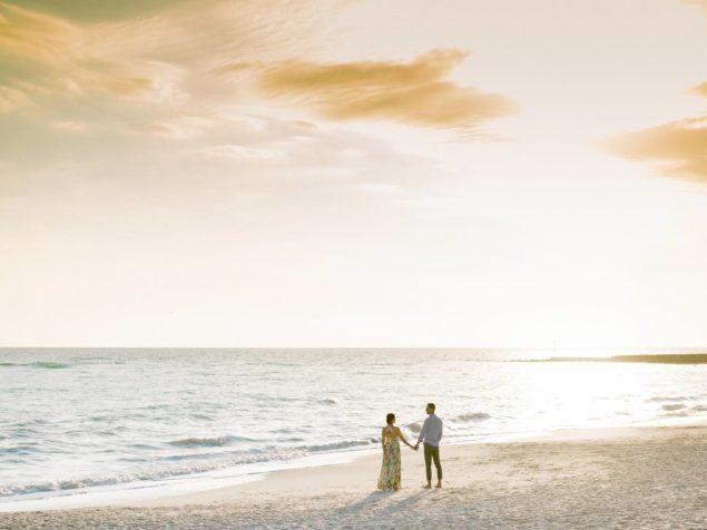 foto romantiche in spiaggia