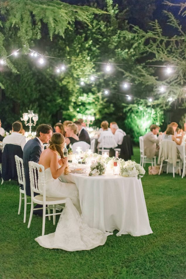 cena matrimonio sotto le stelle