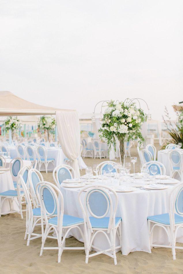 cena matrimonio spiaggia