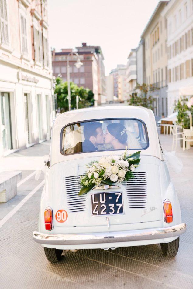 auto vintage matrimonio