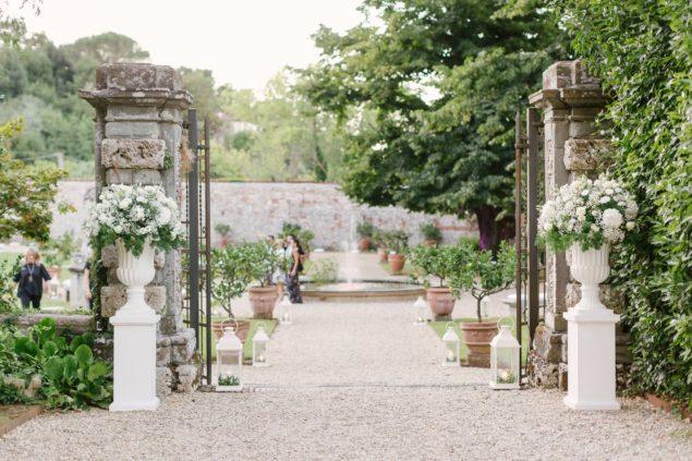 allestimento fiori villa bernardini lucca
