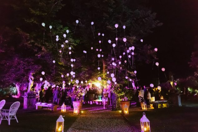 palloncini led matrimonio