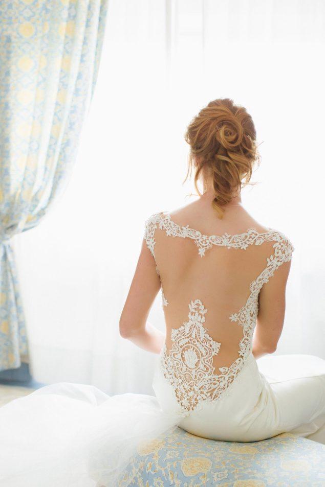 schiena pizzo sposa abito
