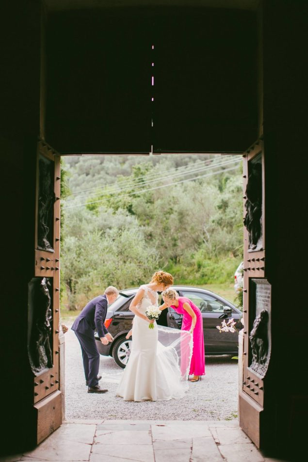 arrivo sposa valdicastello