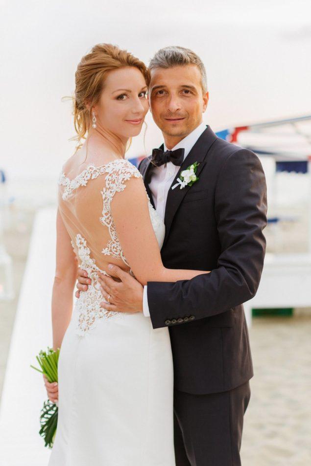ritratto sposi spiaggia