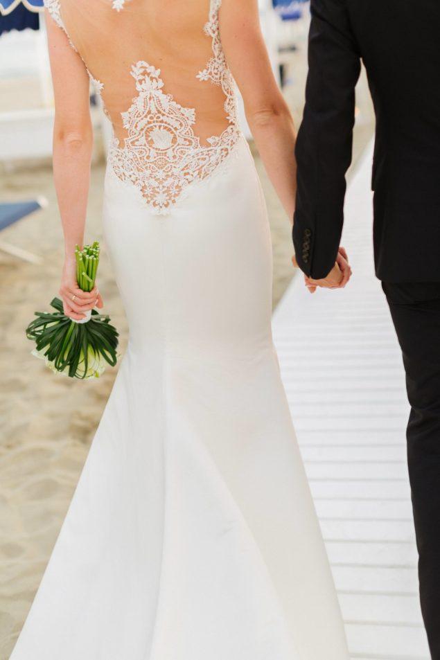 dettaglio abito sposa a sirena