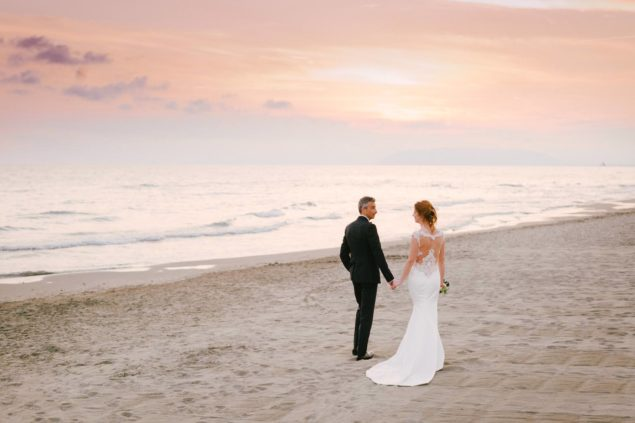 servizio fotografico sposi spiaggia