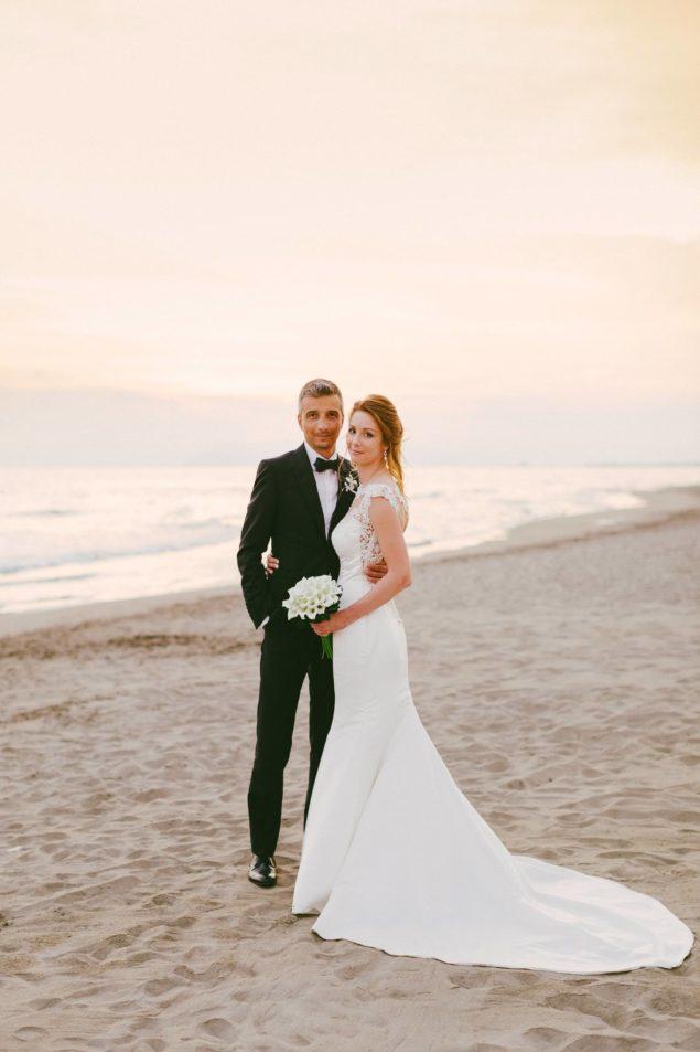 matrimonio foto tramonto spiaggia