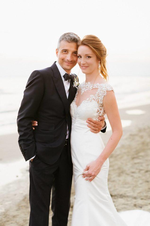 fotografie sposi sulla spiaggia
