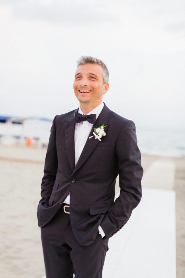 abito sposo matrimonio mare