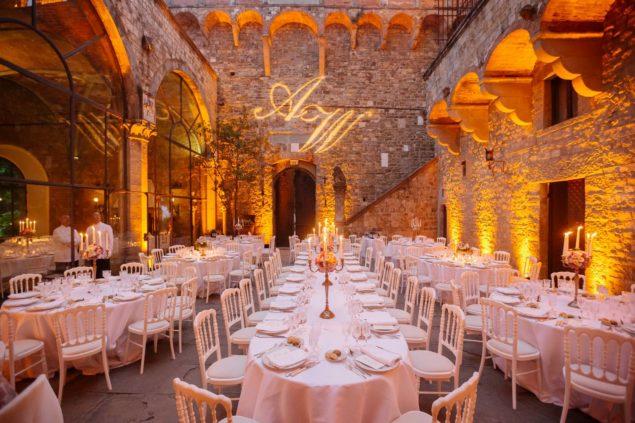 cena matrimonio castello vincigliata