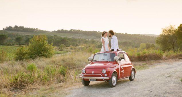 sposi cinquecento matrimonio toscana