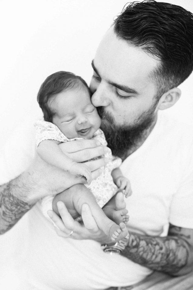 servizio fotografico bambina e papaà