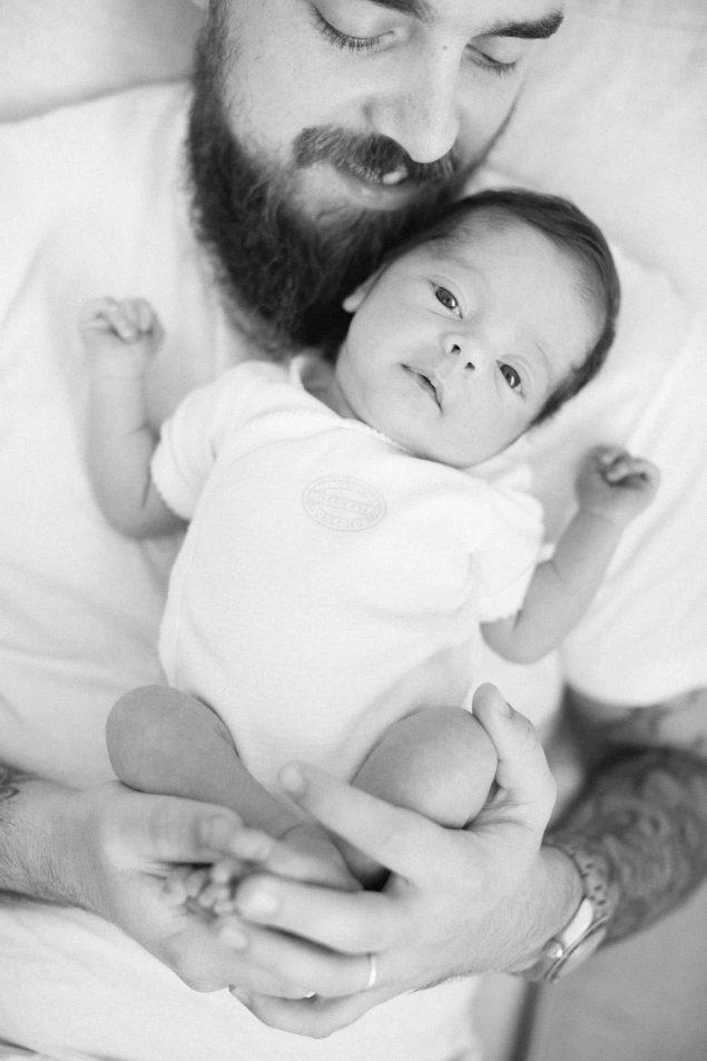 fotografie babbo e neonato