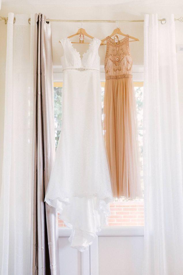 abito da sposa e damigella