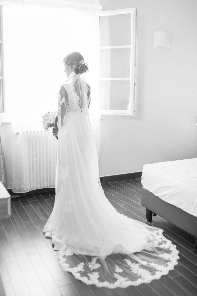 abito sposa bianco e nero