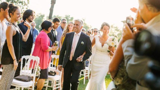ingresso sposa cerimonia villa bruguier