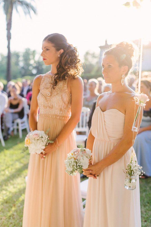 damigelle matrimonio rosa