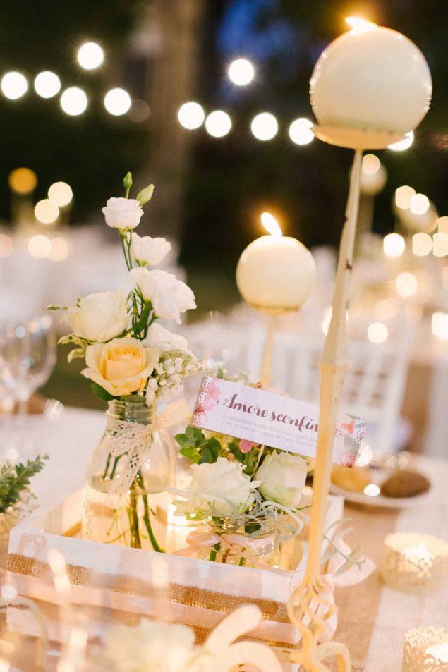 apparecchiatura cena matrimonio