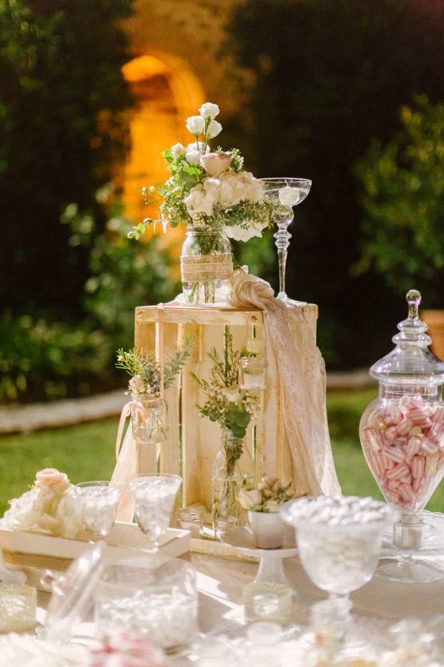 confettata candele matrimonio