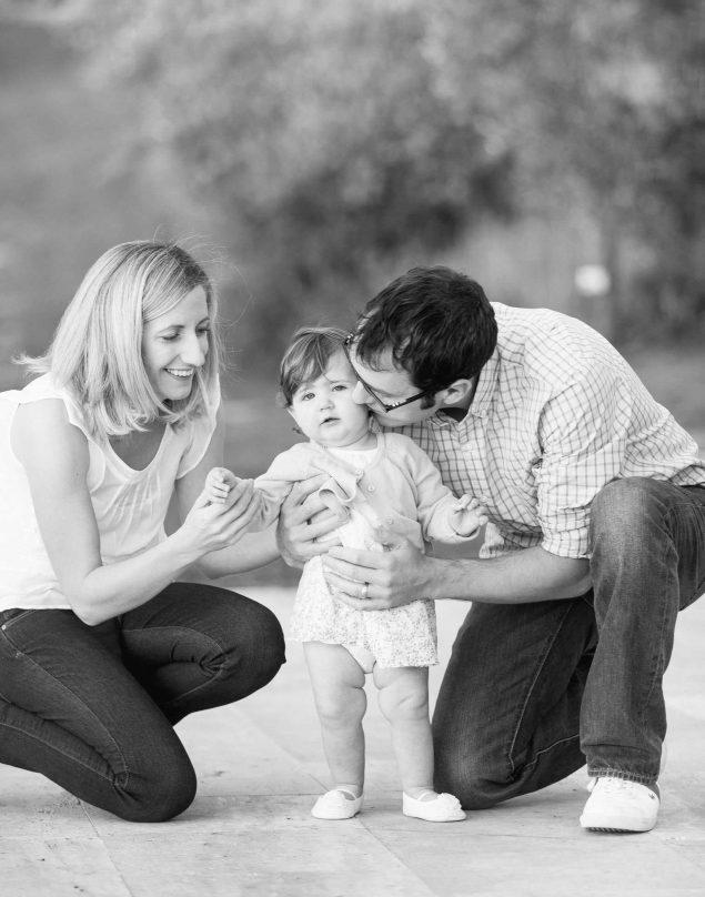 fotografie di famiglia in bianco e nero