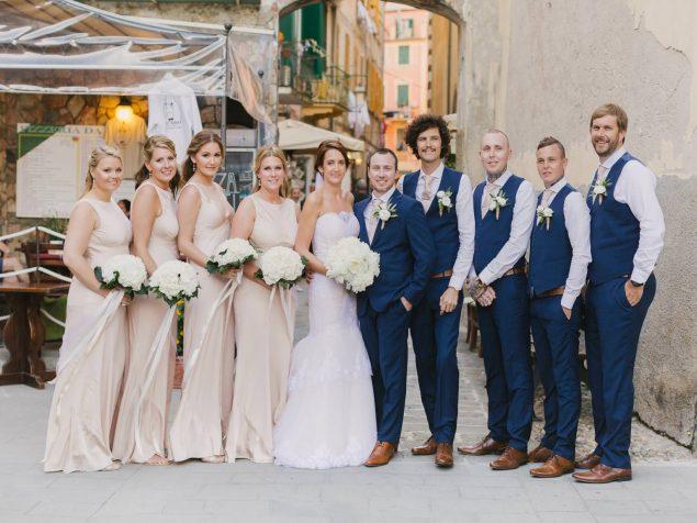 sposi damigelle testimoni matrimonio monterosso