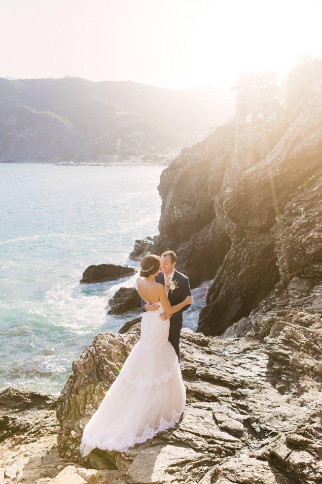 sposi inglesi a monterosso al mare
