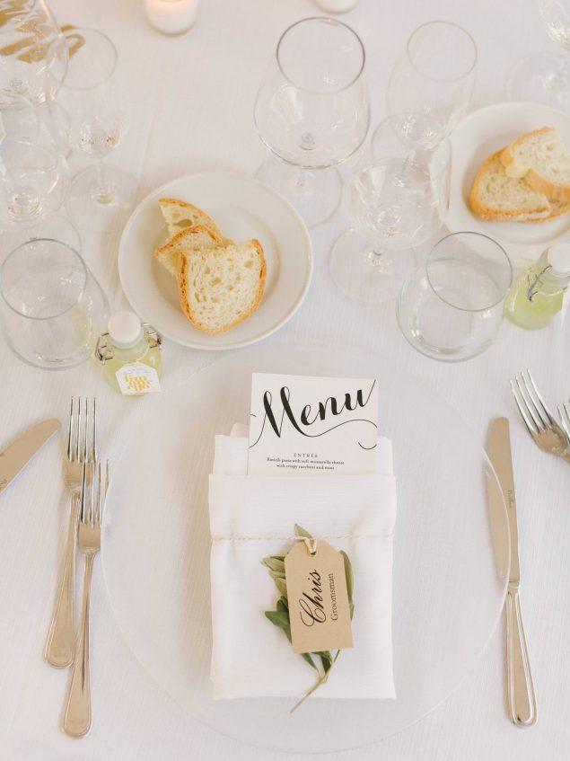 dettagli tavola matrimonio monterosso