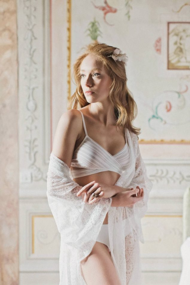 intimo sposa bianco