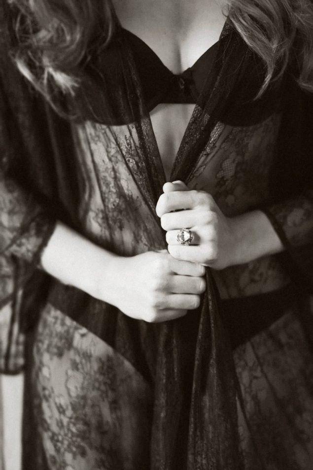 vestaglia nera sposa