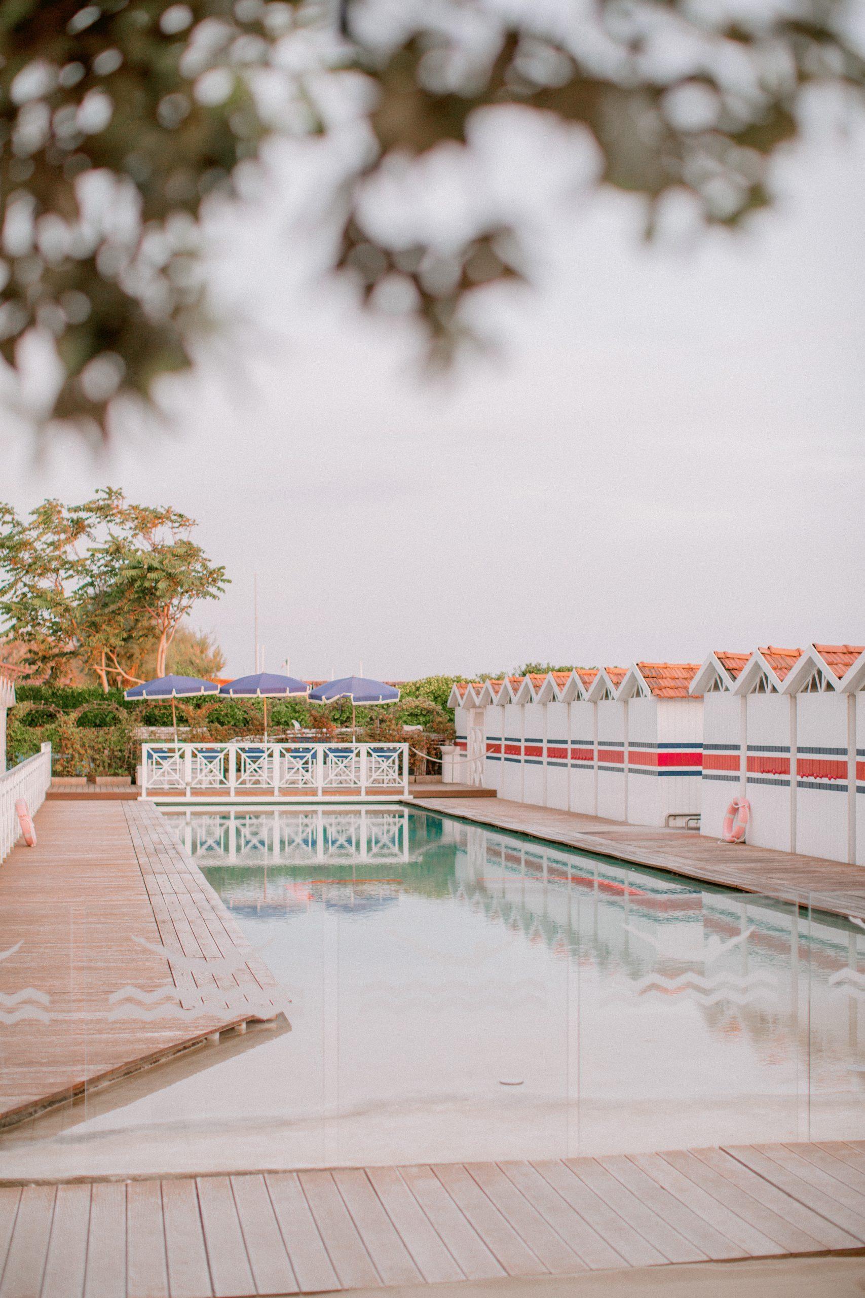 uno scorcio del bagno dell'hotel augustus a forte dei marmi