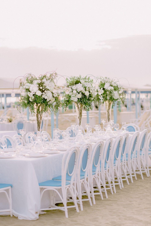 cena di matrimonio sulla spiaggia del Bagno Annetta a Forte dei Marmi Versilia